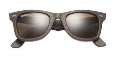 Rb2140qm wayfarer leather brown classic b 15